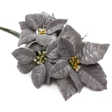 Цветы пуансеттии, 50см (С Серебряный)