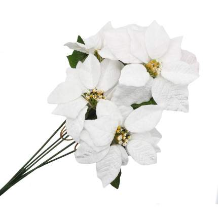 Цветы пуансеттии, 50см (B Белый)