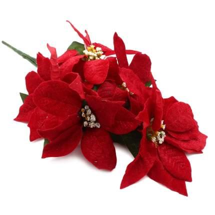 XY19-628 Цветы пуансеттии, 50см (A Красный)