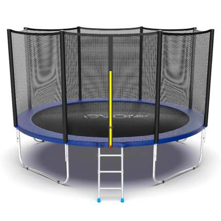 Батут Evo Fitness Jump External с сеткой и лестницей 366 см, blue