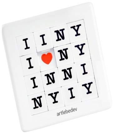 Магнит на холодильник Пятнашки «Ялюблю Нью-Йорк»