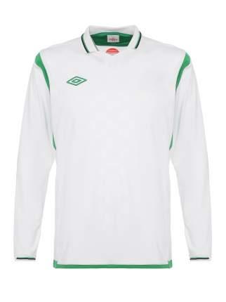 Футболка футбольная Umbro Westham Jersey L/S, белая/зеленая, L