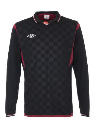 Футболка футбольная Umbro Westham Jersey L/S, черная/красная, L