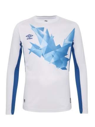 Футболка футбольная Umbro Origami Jersey LS, белая/голубая, M
