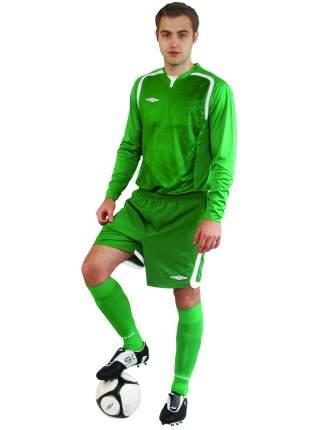Футболка футбольная Umbro Ireland Jersey L/S, зеленая, M