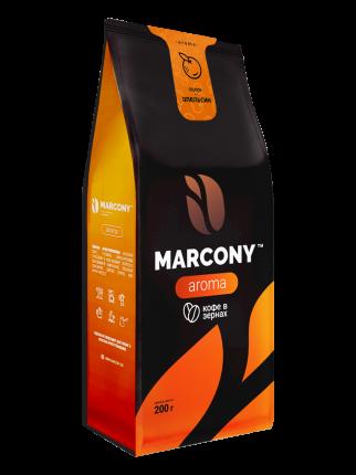 Кофе в зернах Marcony Aroma Апельсин 200г