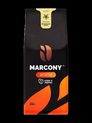 Кофе в зернах Marcony Aroma Французская ваниль 200г