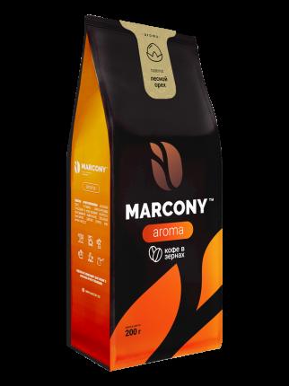 Кофе в зернах Marcony Aroma со вкусом лесного ореха 200г