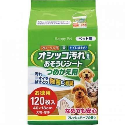 Сменный блок для антибактериальных салфеток Happy Pet 120шт