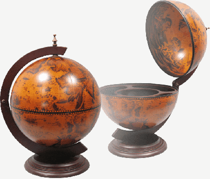 Настольный глобус-бар JUFENG JG33002RR, d=33 см