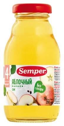 Сок Semper Яблочный б/с с 4 мес 0,2 л