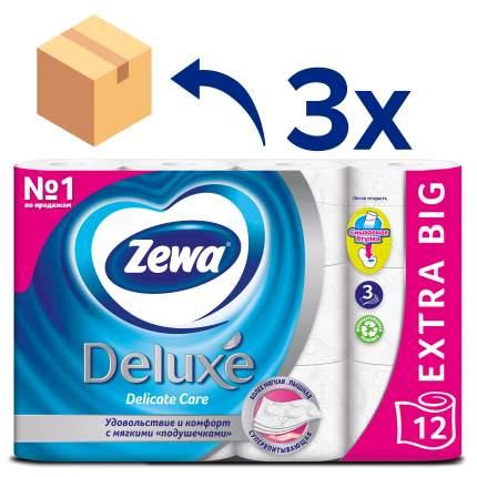 Туалетная бумага Zewa Делюкс 12 рул. 3 уп.