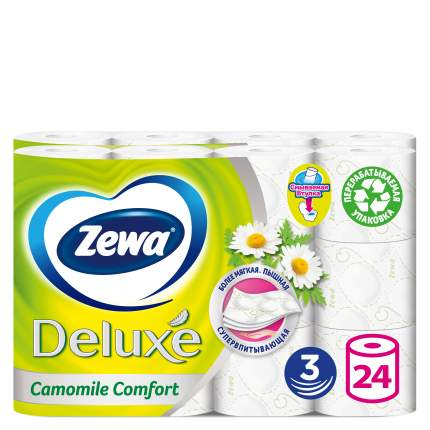 Туалетная бумага Zewa Делюкс Ромашка 12 рул. 2 шт