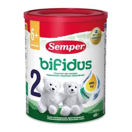 Молочная смесь Semper Bifidus 2 от 6 до 12 мес. 400 г