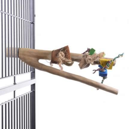 Жердочка для птиц HAPPY BIRD Ветвь кофейная с игрушками, Large