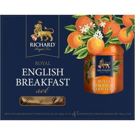 Подарочный набор Richard English Breakfast Set, чай чёрный 180 гр, джем 340 гр