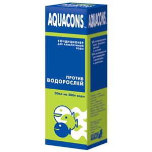 Средство для борьбы с водорослями в аквариуме AQUACONS 50 мл