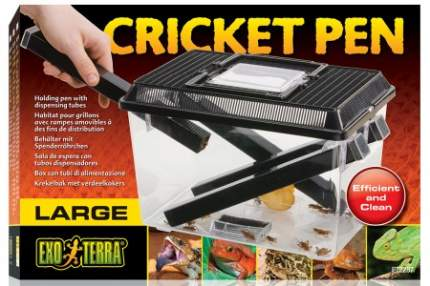 Экзо Терра Пластиковый контейнер для живого корма Cricket Pen, размер 30*20,5*19.5 см