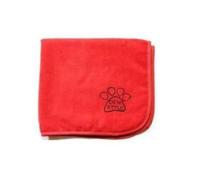 Полотенце для животных DENI STYLE ZooSpa, микрофибра, красно-розовое, 140x70 см