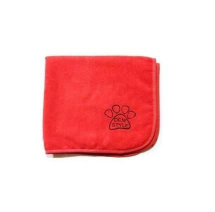 Полотенце для животных DENI STYLE ZooSpa, микрофибра, красно-розовое, 100x60 см