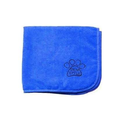 Полотенце для животных DENI STYLE ZooSpa, микрофибра, голубое, 100x60 см