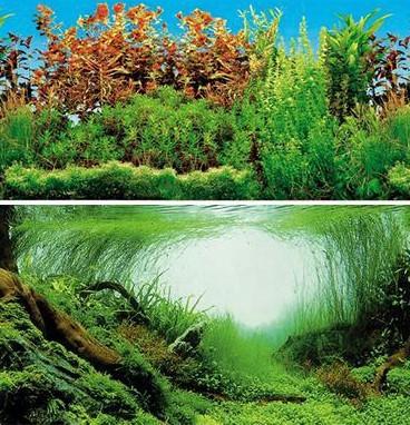 Фон для аквариума TRIXIE водоросли, двухсторонний, винил, 60x30 см