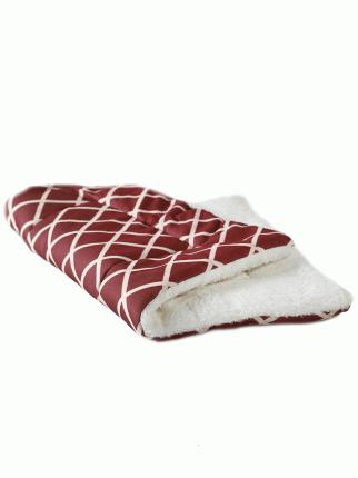 Коврик для кошек и собак Не Один Дома Мягкий коврик, бордовый, белый L, 85х63х3 см