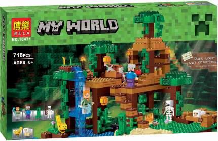 Конструктор Minecraft BELA 10471 Домик на дереве в джунглях