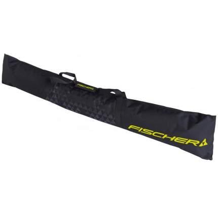 Чехол для горных лыж Fischer Eco Alpine 1 Pair, black/yellow, 160 см