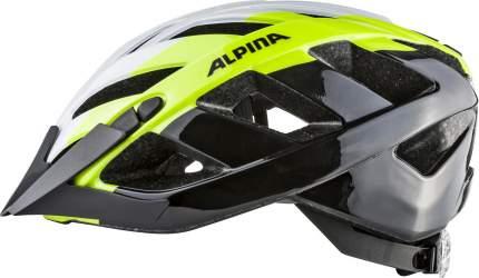 Велосипедный шлем Alpina Panoma 2.0, white/neon/black, S/M
