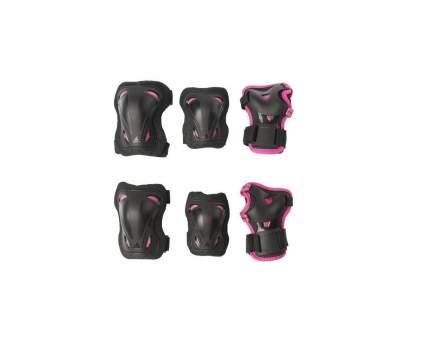 Комплект защиты Rollerblade Skate Gear Junior 3 Pack, black/pink, 3XS