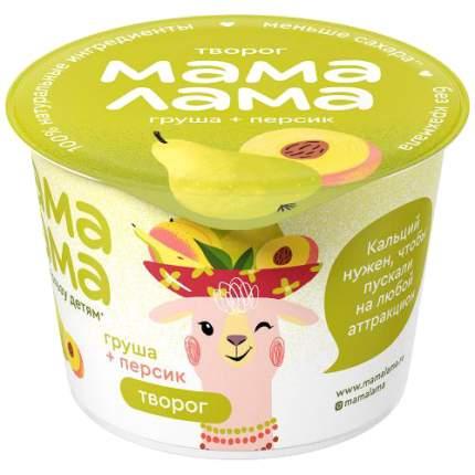 Творог Мама Лама с персиком и грушей 3.8% 100 г
