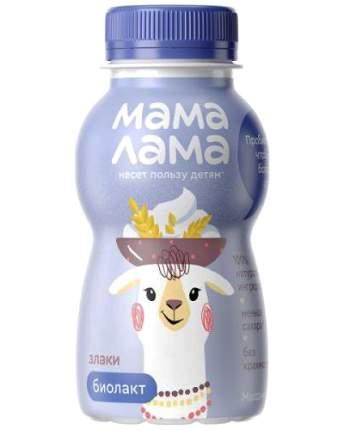 Напиток Мама лама биолактозный со злаками 2.5% 200 г