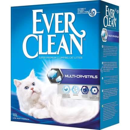 Комкующийся наполнитель для кошек Ever Clean Multi Crystals бентонитовый, 10 кг, 10 л