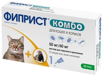 Капли для кошек и хорьков против паразитовв KRKA Фиприст, 1 пипетка, 0,5 мл