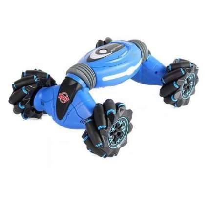 Машинка-перевертыш Stunt Double Sided с управлением жестами и пультом, синяя