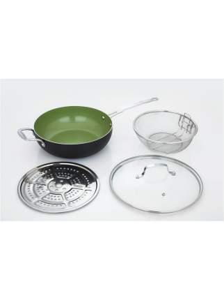 Сковорода-вок многофункциональная CS GRUNSTADT D28 набор 4 предм.