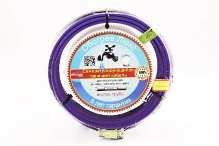 Саморегулирующийся греющий кабель Обогрев Люкс внутрь трубы 15 Вт/м (15 метров)