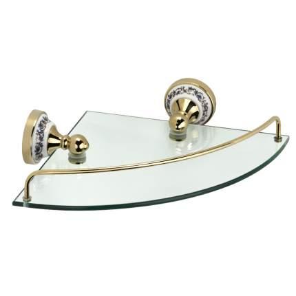 Полка стеклянная угловая Fixsen Gold Bogema (FX-78503AG)