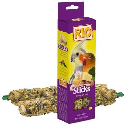 Лакомство для птиц RIO Палочки для средних попугаев с мёдом и орехами 2 х 75 гр., 0,15 кг