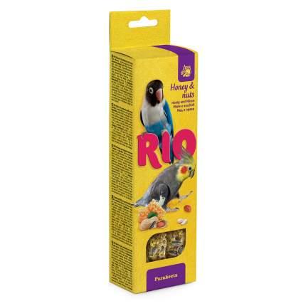 Лакомство для средних попугаев RIO Палочки с мёдом и орехами 2 х 75 г