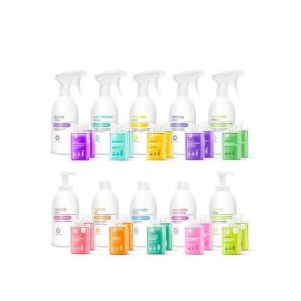Dutybox / Полный комплект средств для уборки DUTYBOX (концентраты + многоразовые бутылки)