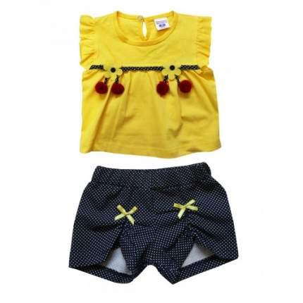 Комплект для девочек BABY BOSS, цв. желтый, р-р 74