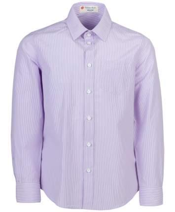 Рубашка для мальчиков Button Blue, цв. сиреневый, р-р 122