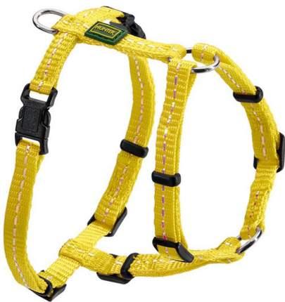 Шлейка для собак HUNTER Tripoli, светоотражающая, нейлон, желтая, грудь 32-44см