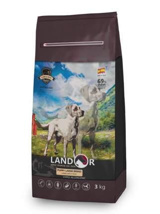 Сухой корм для щенков Landor Puppy Large Breed, для крупных пород, ягненок с рисом, 3кг