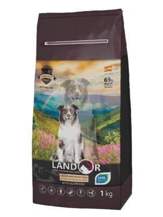 Сухой корм для собак Landor Senior and Adult улучшение мозговой деятельности утка рис 1кг
