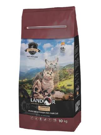 Сухой корм для кошек Landor Sterilized & Light, кролик с рисом, 10кг