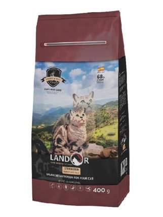 Сухой корм для кошек Landor Sterilized & Light, кролик с рисом, 0,4кг
