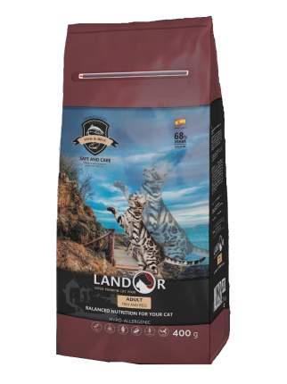 Сухой корм для кошек Landor Adult, рыба с рисом, 0,4кг